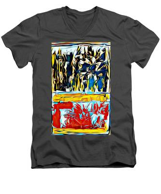 Mountain Of Many Faces Men's V-Neck T-Shirt
