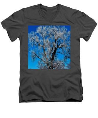 Natures Lace Men's V-Neck T-Shirt