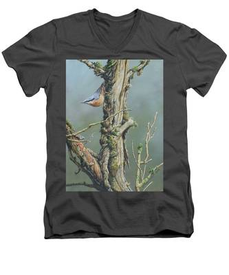 Nuthatch Men's V-Neck T-Shirt