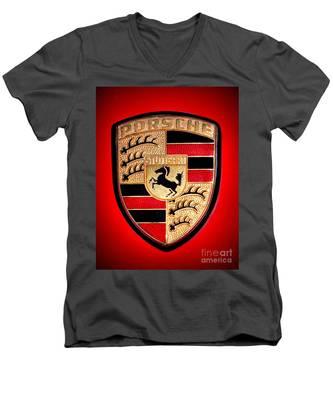 Old Porsche Badge Men's V-Neck T-Shirt