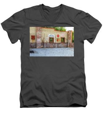Old Saloon Wall Men's V-Neck T-Shirt