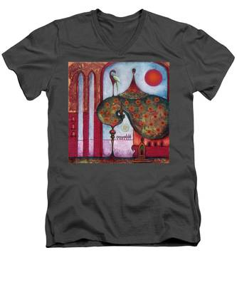 On The Rooftop Of The World Men's V-Neck T-Shirt