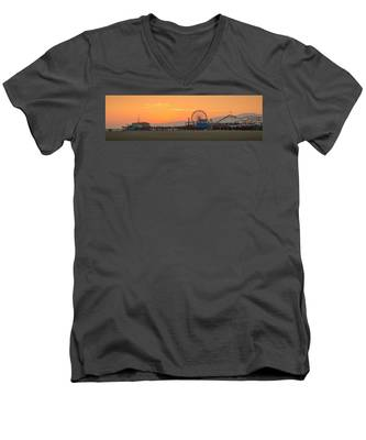 Orange Sunset - Panorama Men's V-Neck T-Shirt