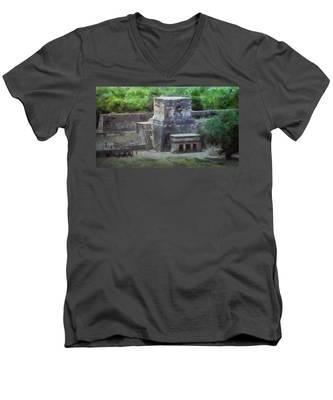 Pyramid View Men's V-Neck T-Shirt