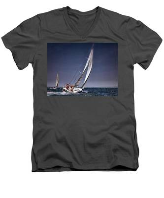 Racing To Nantucket Men's V-Neck T-Shirt