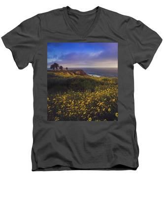 Rancho Palos Verdes Super Bloom Men's V-Neck T-Shirt