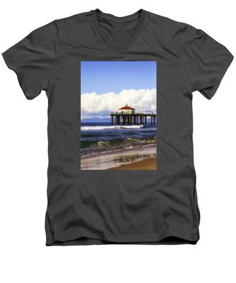 Reflections On The Pier Men's V-Neck T-Shirt