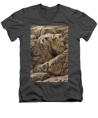Resting In Comfort Men's V-Neck T-Shirt
