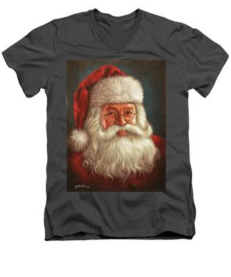 Santa 2017 Men's V-Neck T-Shirt