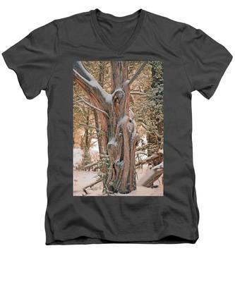 Snowy Dead Tree Men's V-Neck T-Shirt