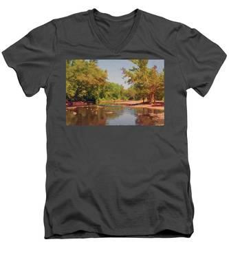 Spavinaw Creek Men's V-Neck T-Shirt