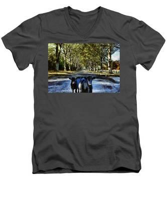 Street Cows Men's V-Neck T-Shirt