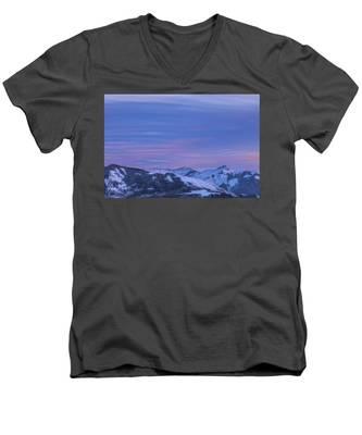 Striped Sky At Day's End Men's V-Neck T-Shirt