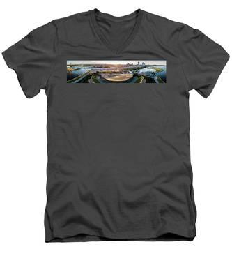 Summerfest Sunset Men's V-Neck T-Shirt