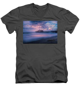 Sunset Glow Men's V-Neck T-Shirt