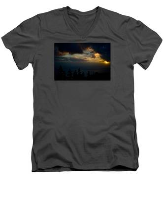 Men's V-Neck T-Shirt featuring the photograph Sunset,beauty by Joseph Amaral