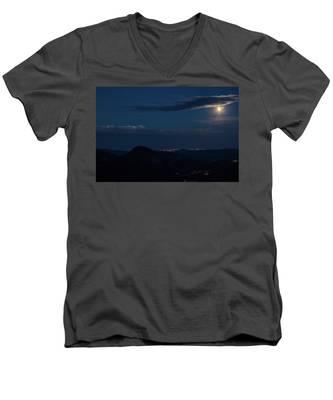 Super Moon Eclipse Men's V-Neck T-Shirt