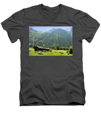 Swiss Mountain Home Men's V-Neck T-Shirt