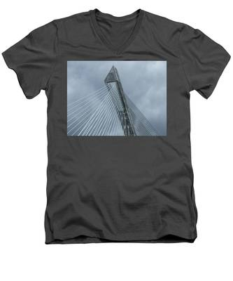 Terenez Bridge II Men's V-Neck T-Shirt
