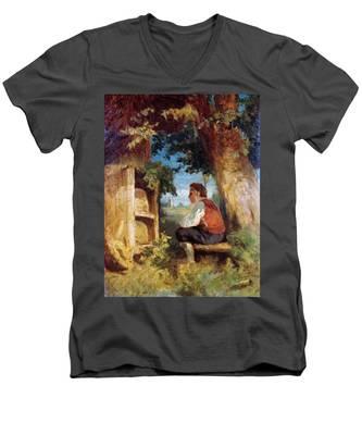 The Bee Friend Men's V-Neck T-Shirt