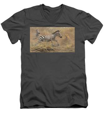 The Chase Men's V-Neck T-Shirt