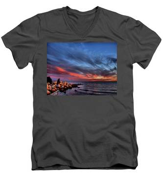 The Fisherman Men's V-Neck T-Shirt