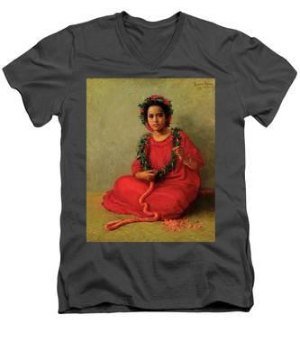 The Lei Maker Men's V-Neck T-Shirt