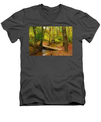 There Is Peace - Allaire State Park Men's V-Neck T-Shirt