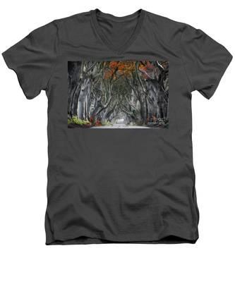 Trees Embracing Men's V-Neck T-Shirt