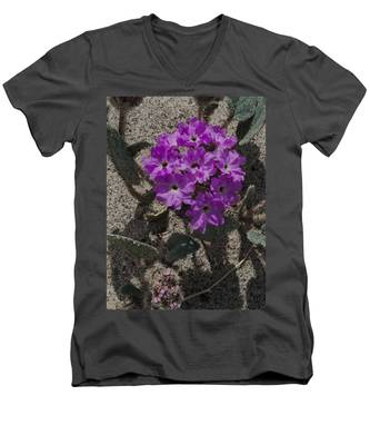 Violets In The Sand Men's V-Neck T-Shirt