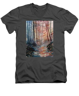Wander In The Woods Men's V-Neck T-Shirt
