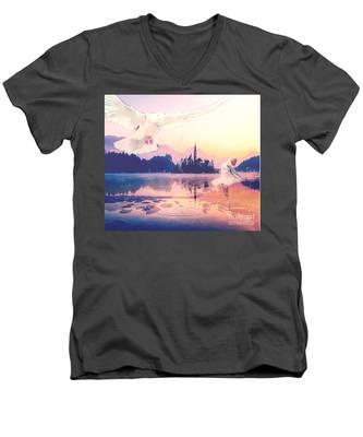 Wings Of Grace Men's V-Neck T-Shirt