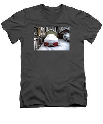 Men's V-Neck T-Shirt featuring the photograph Winter-4 by Joseph Amaral