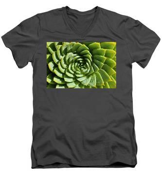 Aloe_polyphylla_8536.psd Men's V-Neck T-Shirt