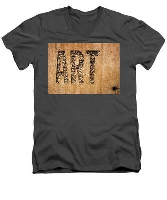 art Men's V-Neck T-Shirt