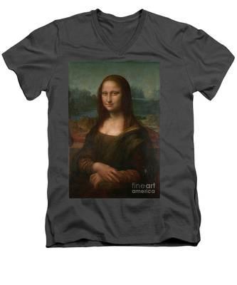 Mona Lisa Men's V-Neck T-Shirt
