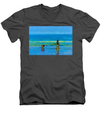 Beach Blues Men's V-Neck T-Shirt