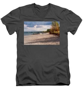 Beach Storm Men's V-Neck T-Shirt