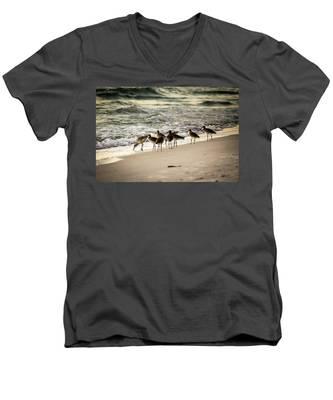 Birds On The Beach Men's V-Neck T-Shirt