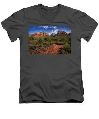 Dramatic Cloudscape Over Capitol Butte Men's V-Neck T-Shirt