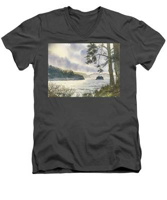 Evening On Derwentwater Men's V-Neck T-Shirt