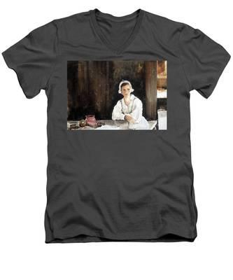 Fair Maiden Men's V-Neck T-Shirt