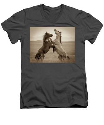 Fighting Stallions Men's V-Neck T-Shirt