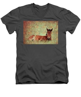 Flowery Foal Men's V-Neck T-Shirt