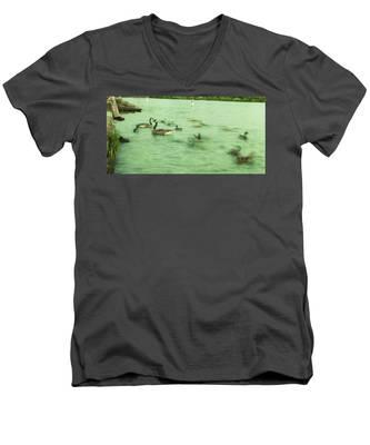 Ghost Ducks Men's V-Neck T-Shirt