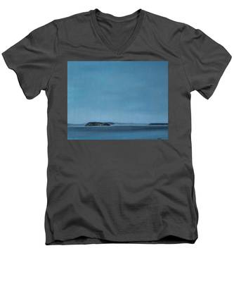 Hat Island View From Harborview Park Men's V-Neck T-Shirt