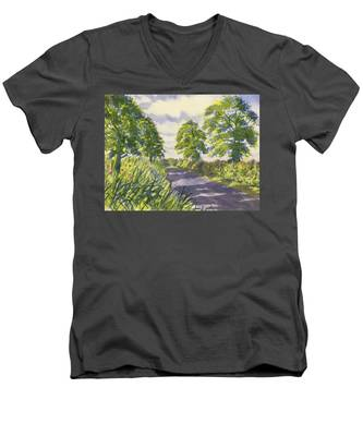 Hedgerows On Rudston Road Men's V-Neck T-Shirt