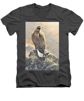 Highlander - Golden Eagle Men's V-Neck T-Shirt