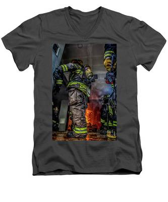 Interior Live Burn Men's V-Neck T-Shirt