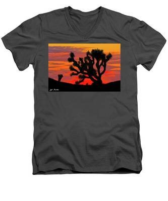Joshua Tree At Sunset Men's V-Neck T-Shirt